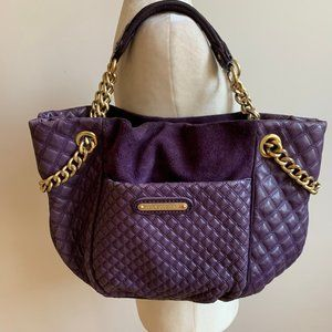 JUICY COUTURE purple Quilted Purse Large Handbag